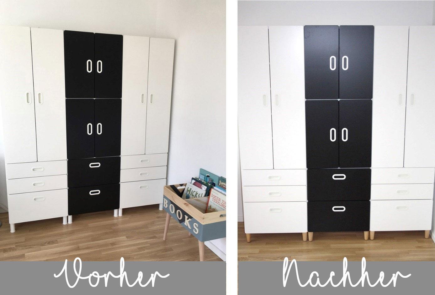 Ikea Hack Stuva Kleiderschrank Mit Mobelfussen New Swedish Design