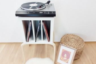 Genial einfach, einfach genial – Ikea Schallplatten Tisch Hack!