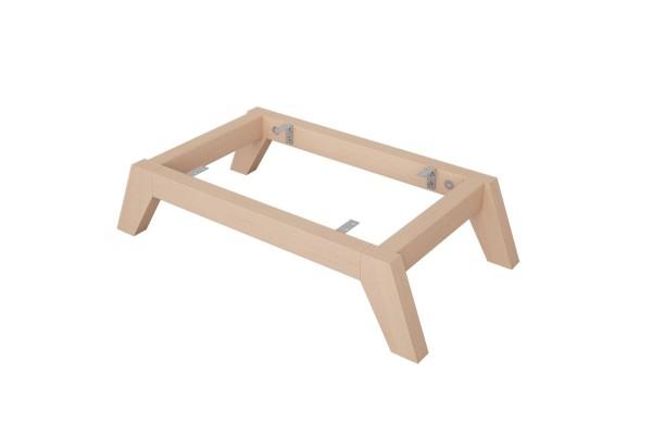 Holzuntergestell Mit Schragen Fussen Fur Ikea Kallax Regal New