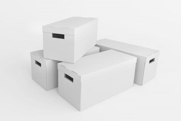 Vier Schubladen Boxen im Set