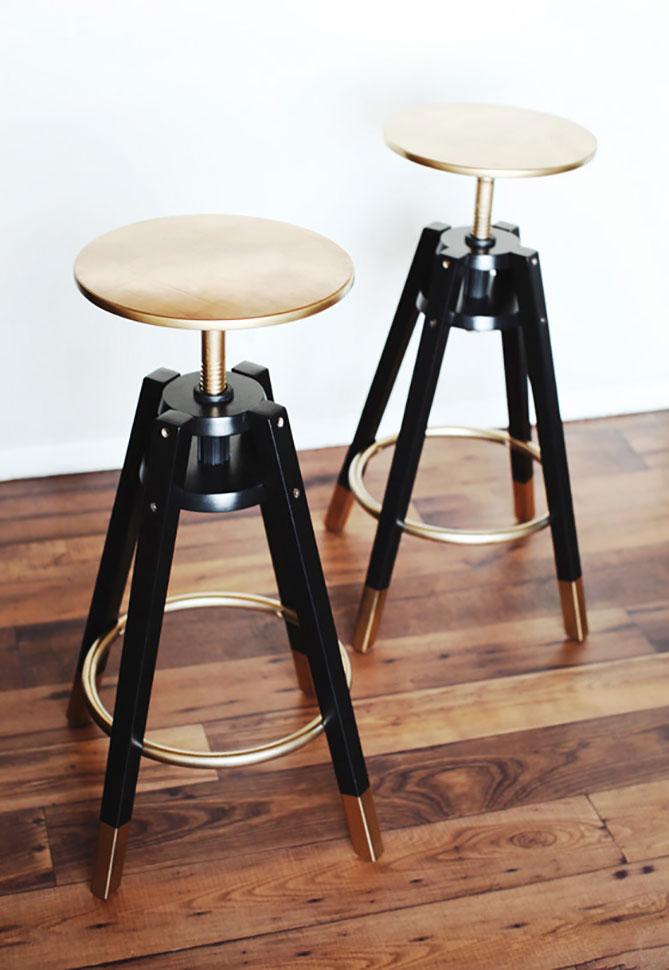 DIY: Glamouröse Ikea Hocker selber machen | New Swedish Design