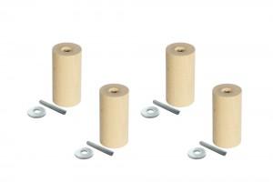 Ikea Sofa Möbelfüße mit Gewinde, Cylinder, im 4er-Set, klein