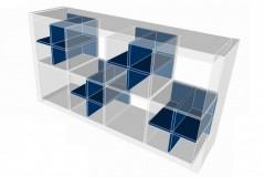 Ikea Kallay Regal mit Einsätzen für Handtücher