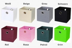 Kallax Regalbox zur Aufbewahrung Übersicht alle Farben