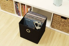 Schallplatten Storage in Ikea Kallax Faltbox