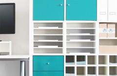 Ikea Kallax Regal mit Fachteiler für Papier