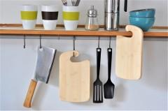 Frühstücksbrettchen mit Haken zum Anhängen an die Ikea Grundtal Stange