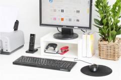Bürozubehör in Monitorständer mit Fach