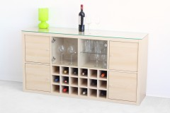 Kallax Regal von Ikea als Weinregal