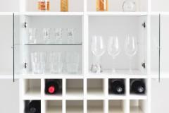 Vitrineneinsatz für Kallax Regal mit Glasboden