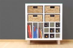 Ikea Kallax Regalkorb Seborg halbes Fach als 4er Set