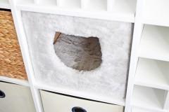 Expedit Regalfach mit eingebauter Katzenhöhle