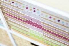 Regalfächer mit Griffmulden für Scrapbook-Papier